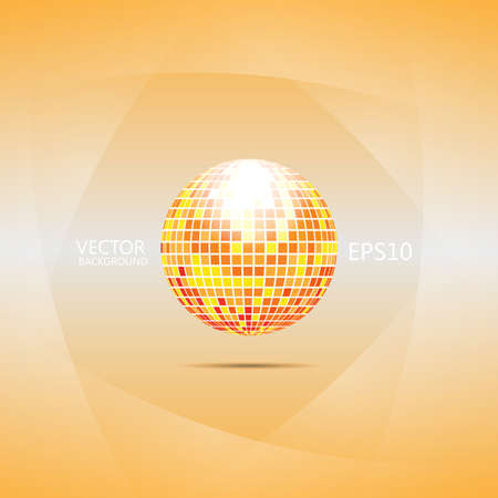 Red and orange disco ball Illustration