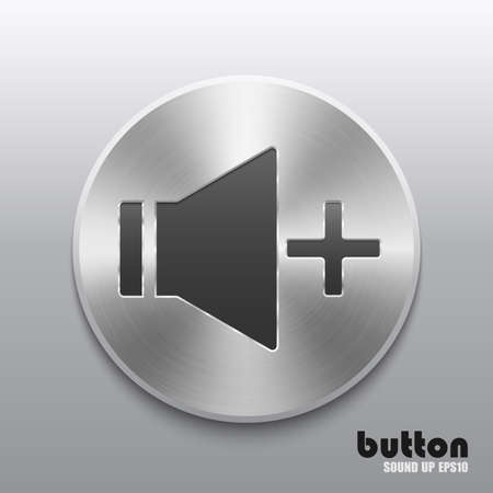 Round speaker button for increase sound with metal brushed texture