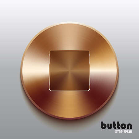 Bronze stop button