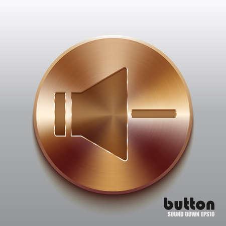 volume control: Bronze speaker button for decrease sound