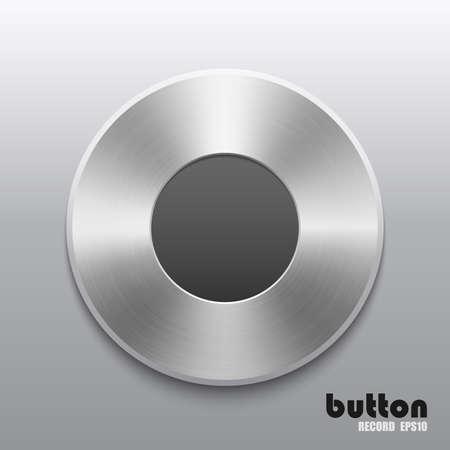 Metal record button