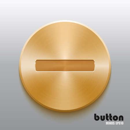 Golden minus button