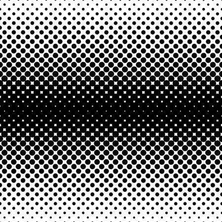 Monochrome halftone abstract background of circular elements and in the direction from the center to the sides vertically