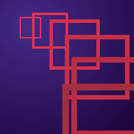 Colorful perspective geometric abstract background in red and purple color Ilustração
