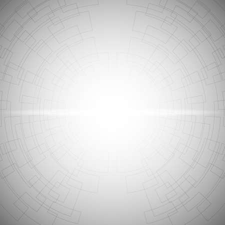 Gray and white abstract mesh background with perspective design and with shine glow from center