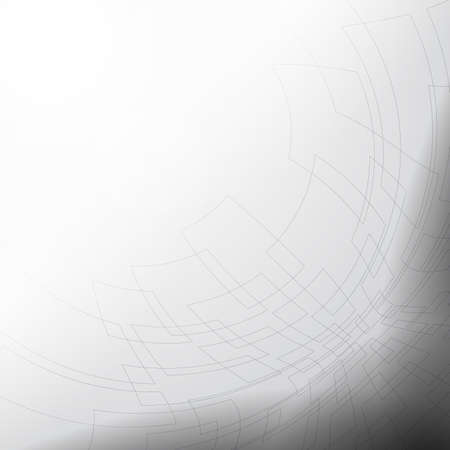 Gray and white abstract mesh background with perspective design, dimming and flash