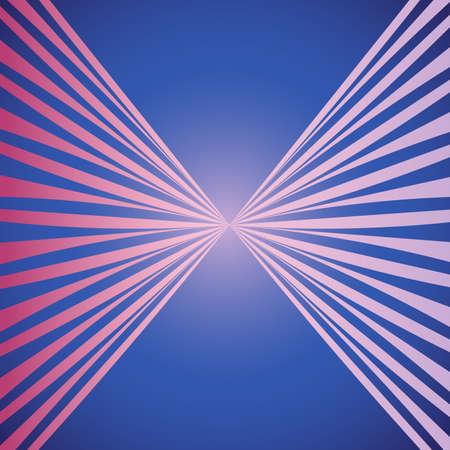 Blue and pink abstract straigth stipes colorful background for design with perspective from center