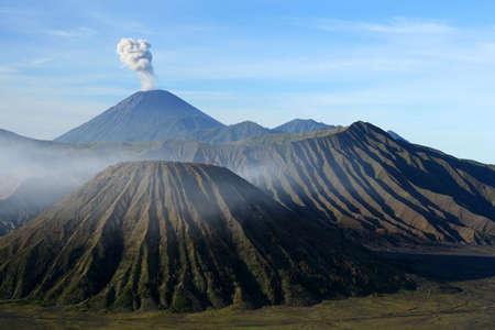Spectacular Gunung Bromo and Sumeru volcanoes in Jawa Stock Photo - 5078877