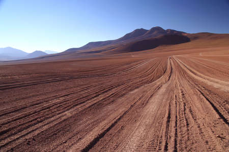 Desert road through remote part of southern Altiplano Stock Photo - 5079339