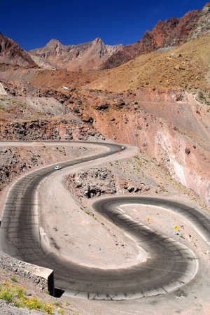 Beautiful road through high Andes Chile South America Stock Photo - 5079389