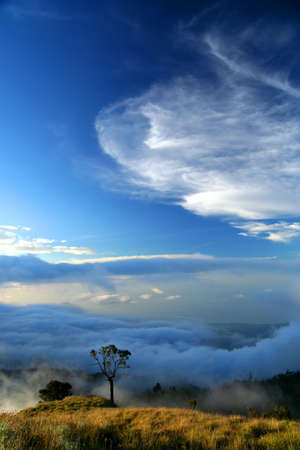 lombok: View from Gunung Rinjani volcano Lombok island Indonesia Stock Photo