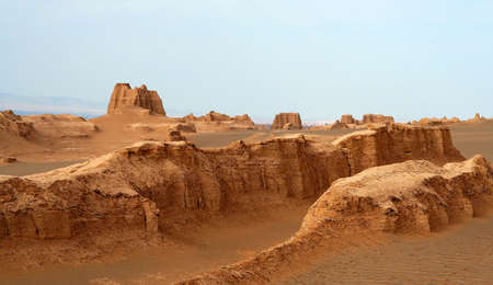 Sand castles in the remote iranian desert near Kaluts
