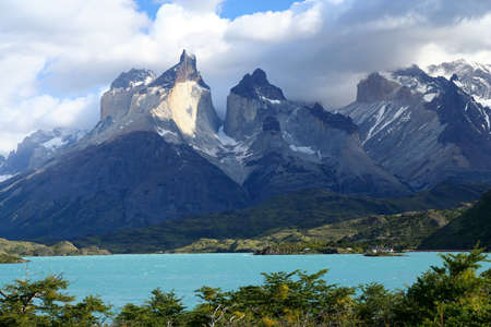 del: Stunning Cuernos del Paine in southern Chile Stock Photo