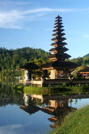 Ulun Danu Temple on the shore of Lake Brataan in Bali in Indonesia
