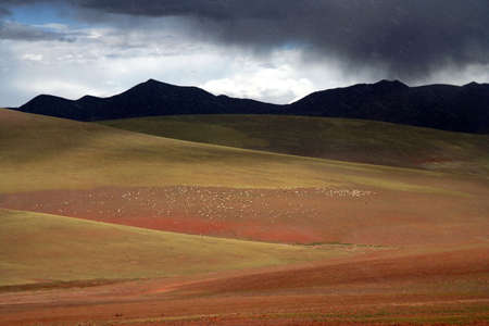 impervious: Beautiful landscape in the remote area of Western Tibet Stock Photo