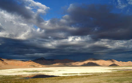 impervious: Beautiful landscape in the remote area of Western Tibet, on the road to Ali