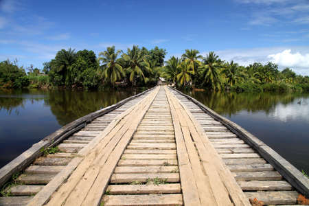 Beautiful bridge in the scenic part of Madagascar's Vanilla Coast Stock Photo