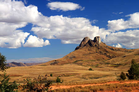 Stunning landscape of Madagascar highlands near Park National dAndringitra