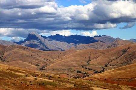 Stunning landscape of Madagascar highlands near Park National dAndringitra photo