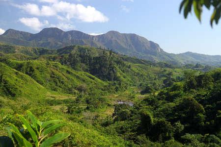 Prachtige Madagaskar landschap langs de Maroantsetra tot Antalaha trail Stockfoto