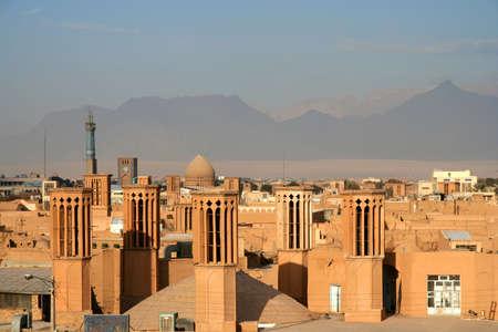 Historic city of Yazd, Iran Imagens - 10284002