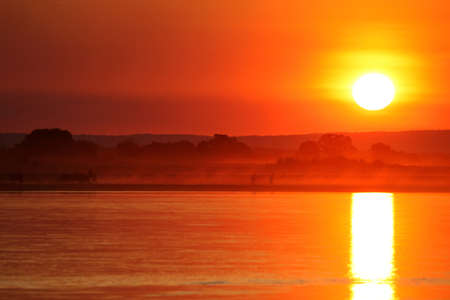 Beautiful sunset over Tsiribihina river in Madagascar Stock Photo - 12338455
