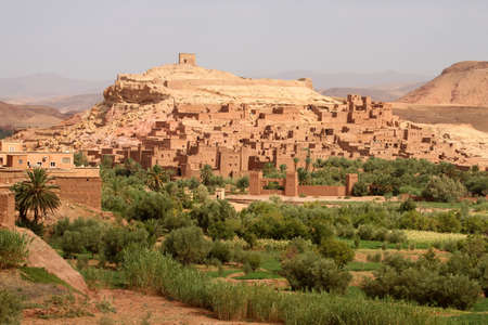 Ait Benhaddou, an ancient fortress city in Morocco near Ouarzazate on the edge of the sahara desert  Used in fils such as Gladiator, Kundun, Lawrence of Arabia, Kingdom of Heaven