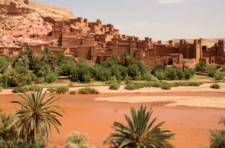 Ait Benhaddou, an ancient fortress city in Morocco near Ouarzazate on the edge of the sahara desert  Used in fils such as Gladiator, Kundun, Lawrence of Arabia, Kingdom of Heaven  Editorial