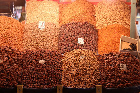 Dry fruits stall In the Marrakech Souk