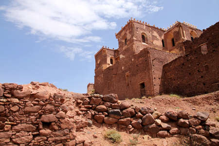 fortification: Old Telouet kasbah � former palatia residence of Glaoui tribe Editorial