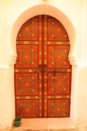 medina: Traditional entry door in the medina, Morocco
