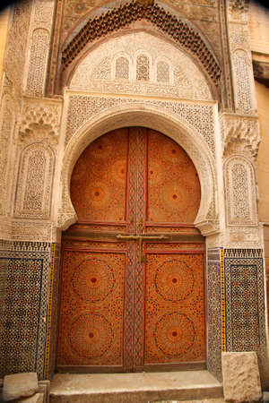 Traditional entry door in the medina, Morocco Stock Photo - 13077976