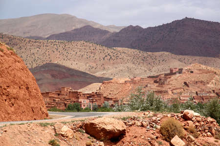 Small village in the middle of Atlas mountains, Morocco photo