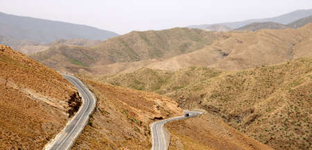 Road from Ouarzazate to Marrakesh through Atlas mountains Stock Photo - 13077348