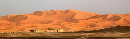 merzouga: Stunning sand dunes of Sahara desert in Merzouga, Morocco Editorial