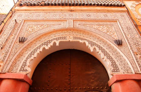 Traditional entry door in the medina, Morocco Stock Photo - 13077966