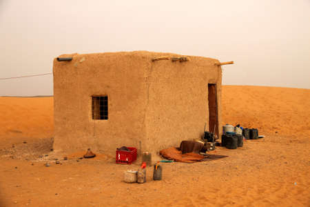 undeveloped: Bedouin home in the Sahara desert, Morocco