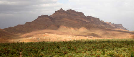 islamic wonderful: Panoramic view of beautiful Draa Valley in Morocco Stock Photo
