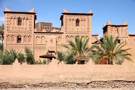 One of many beautiful kasbah in Dades Valley, Morocco Editorial