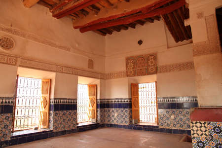 Interior of the kasbah in Ouarzazate, Morocco
