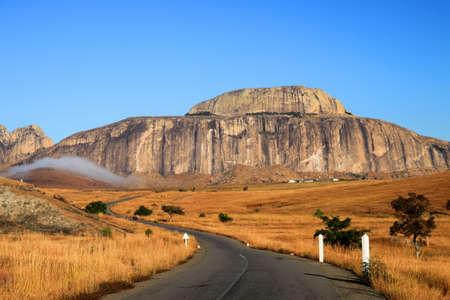 Stunning landscape of Madagascar highlands, central Madagscar Standard-Bild