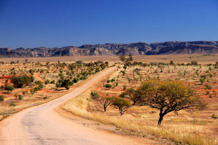 Road leading to Parc National Isalo in Madagascar