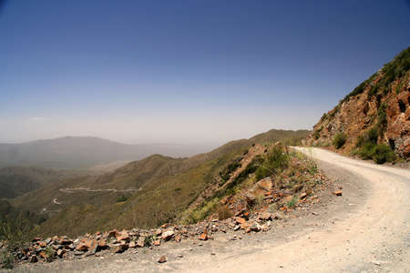 Mountain Road from Termas Villevicencio to Uspallata, Andes, Argentina Stock Photo - 13295201