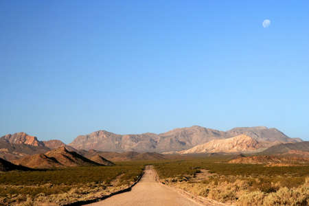 Mountain Road from Termas Villevicencio to Uspallata, Andes, Argentina photo