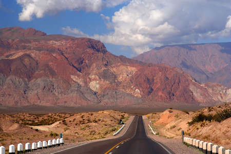 Beautiful Road through stunning scen ery from Mendoza In Argentina to Chile over the Andes Stock Photo - 13295200