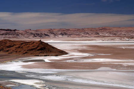 Big salar near the famous Valle the la Luna near San Pedro de Atacama in Chile photo