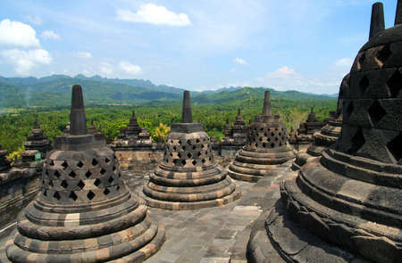 View of Borobudur temple in Jawa in Indonesia