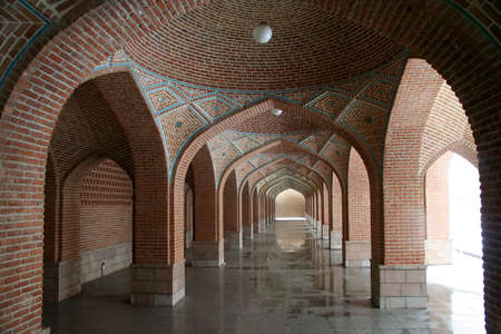 Arches in the Blue Mosque in Tabriz, Iran