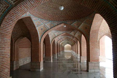 islamic wonderful: Arches in the Blue Mosque in Tabriz, Iran