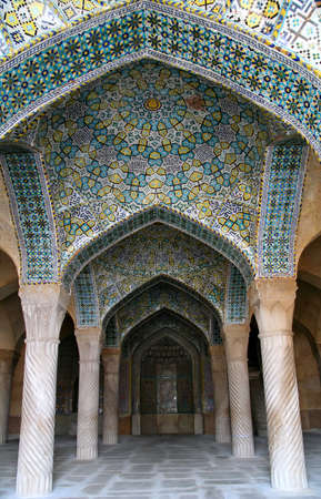 Beautiful and impressive Vakil mosque in Shiraz, Iran